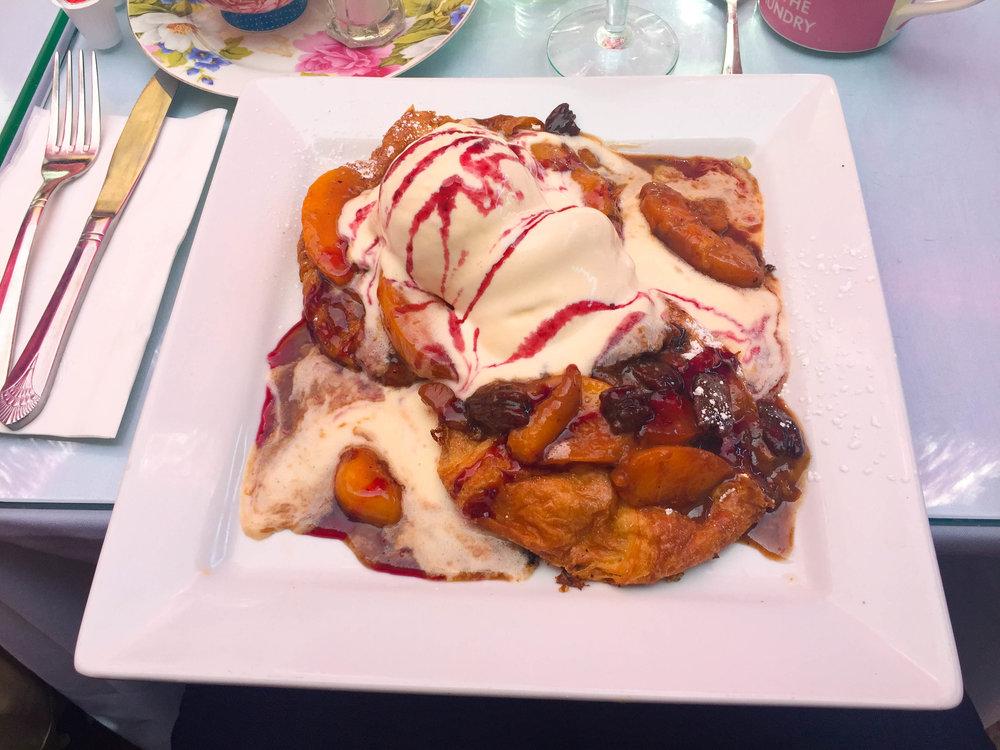 26 Beach Ice Cream French Toast Peach Melba