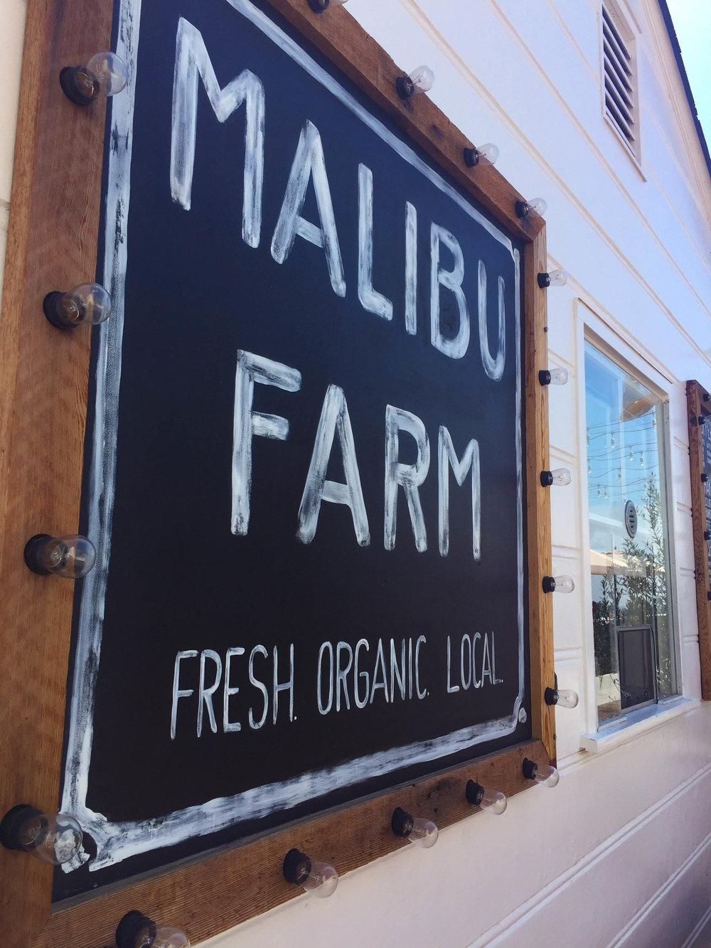 Malibu Farm Brunch Spot on the pier in Los Angeles