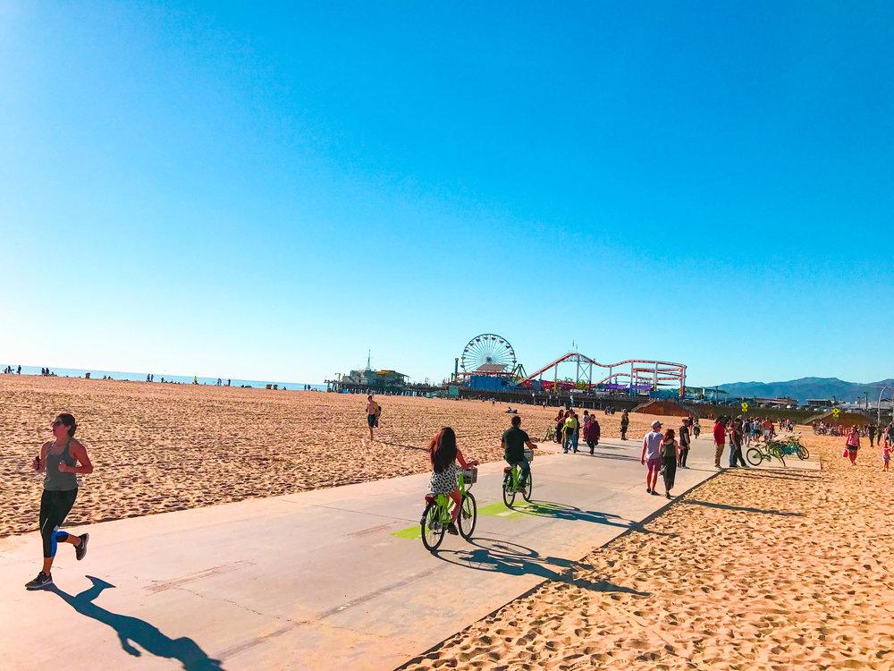 Brunch Post Santa Monica Beach Bike Trail.jpg