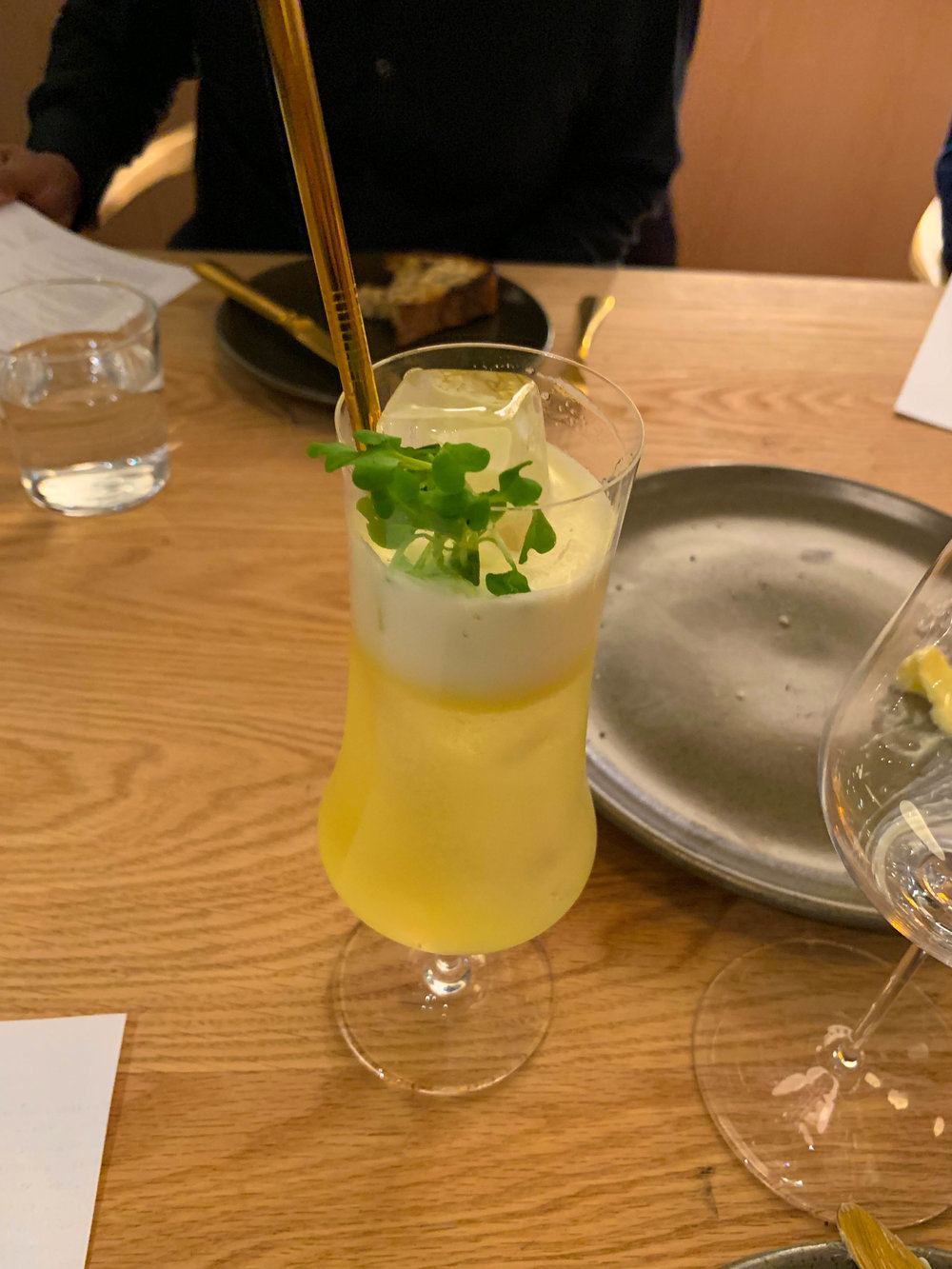 Celine Dijon - Pineapple Mostarda, tequila reposado, lilet blanc, seltzer