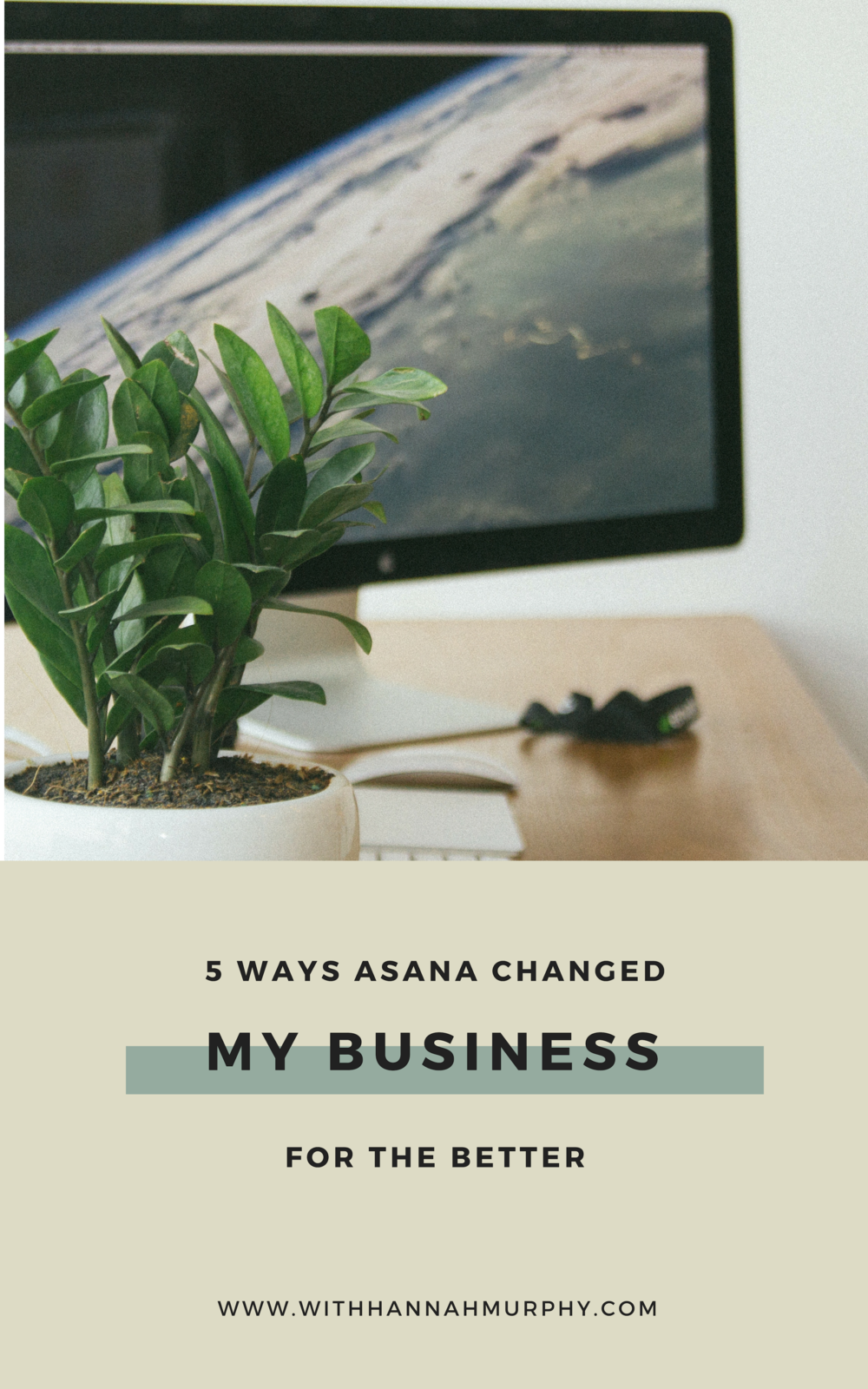 Do you find yourself doing business in your brain? This blog explain 5 benefits to using Asana in your business and what Asana as a project management tool can do for you | With Hannah Murphy #asana #businesstips #creativeentrepreneur