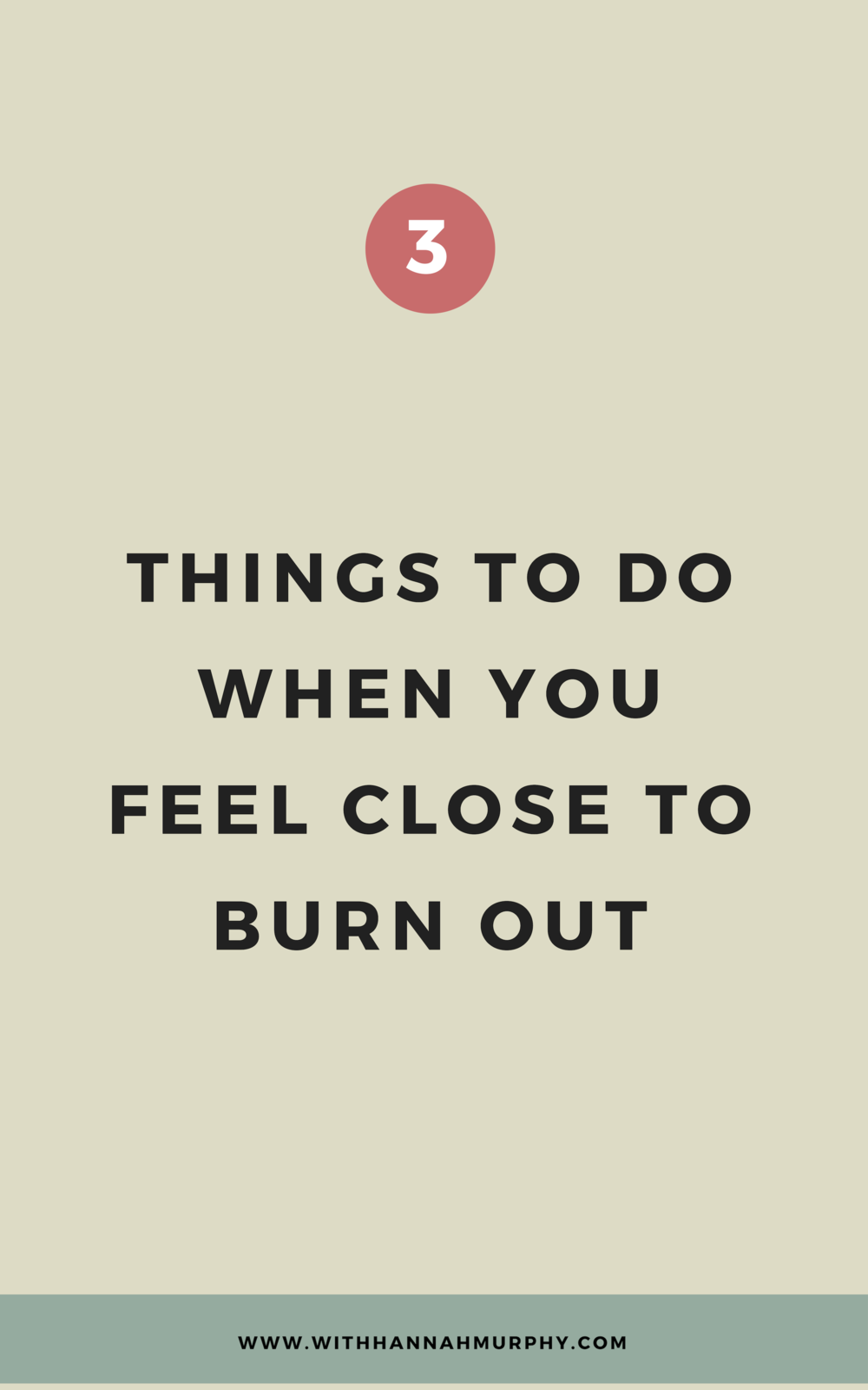 3 things to do when you're close to burnout | With Hannah Murphy #businesstips #creativebusinessresources