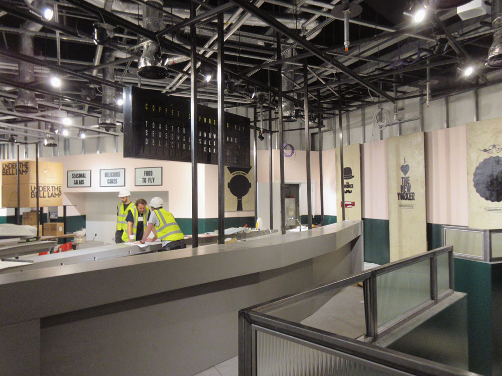 On site: Benugo Luton Airport nearly reaching completion.