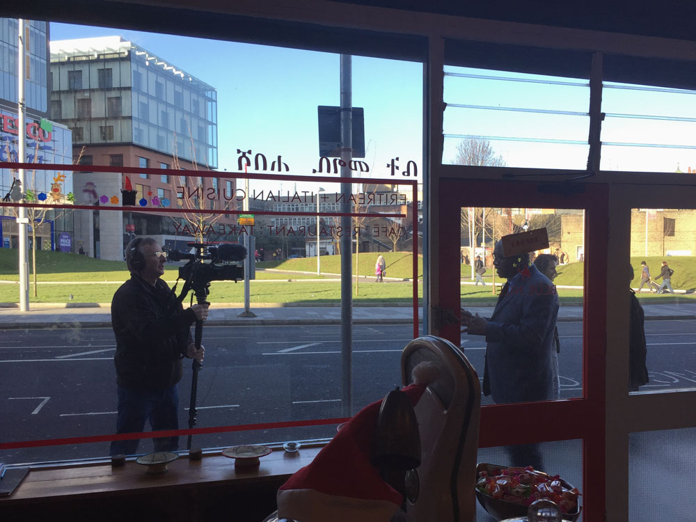 BBC shooting at the Blue Nile. Stay tuned!