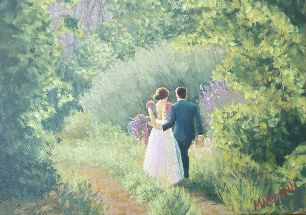 Matt and Tina Wedding Painting