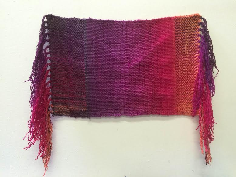 Hanan Sharifa, hand-woven, cotton and dye, 14 x 16.