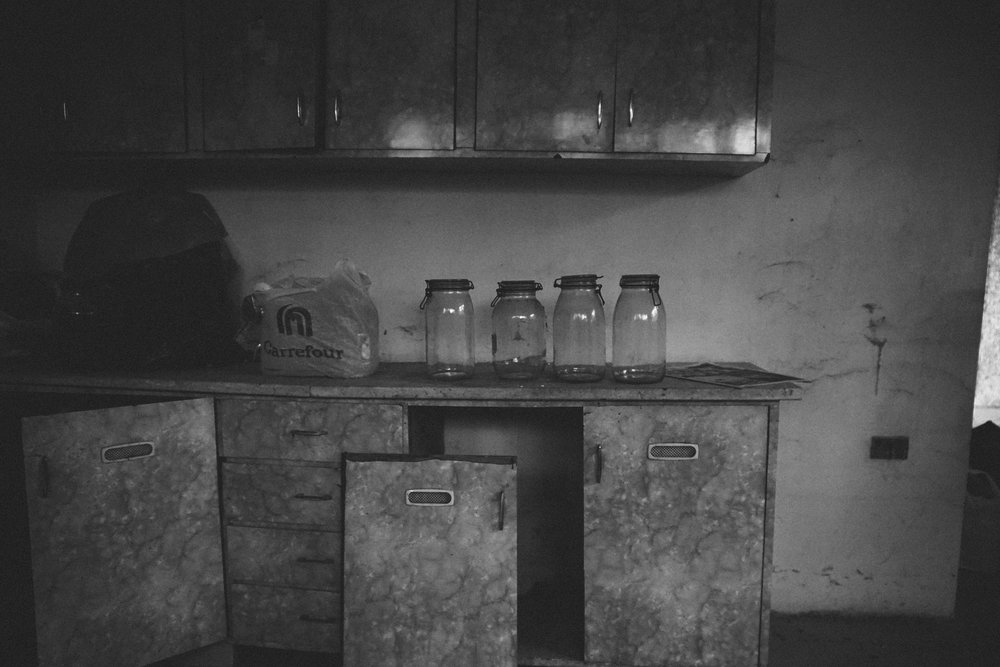 Even the famed pickle jars were empty.