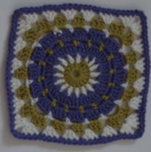 Grape Granny Square