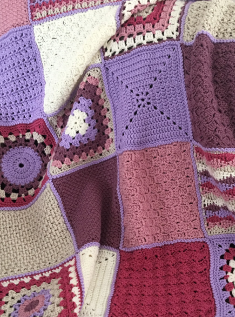 Stockton Squares in Pinks and Purples