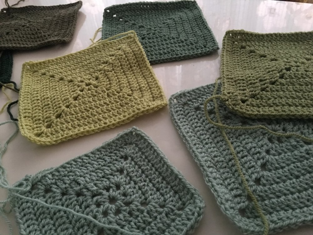 Stylecraft green squares