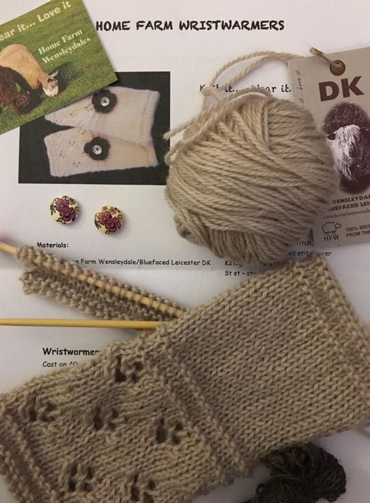 Wrist warmer knitting kit