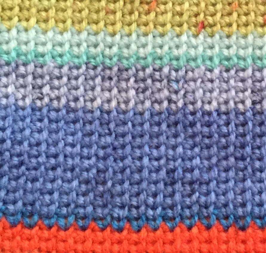 Crocheting that looks like knitting