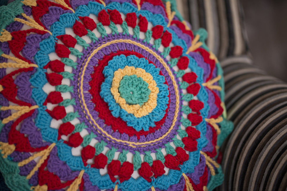 Crochet Mandala Cushion Patterns