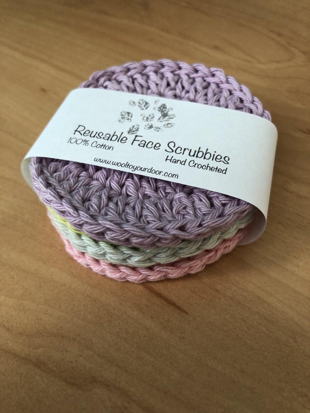 Free face scrubbies crochet pattern - Eco friendly