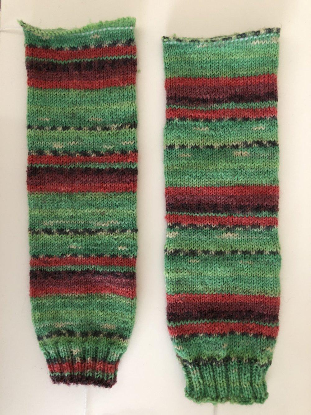 Step two - Ta dah two socks :-)