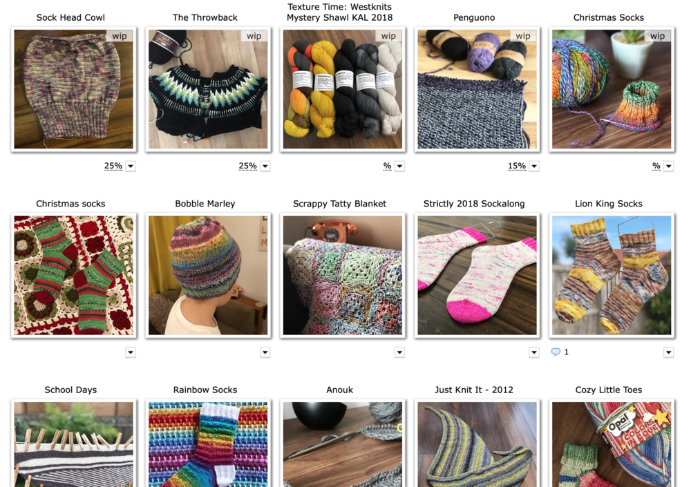 Projects in Ravelry