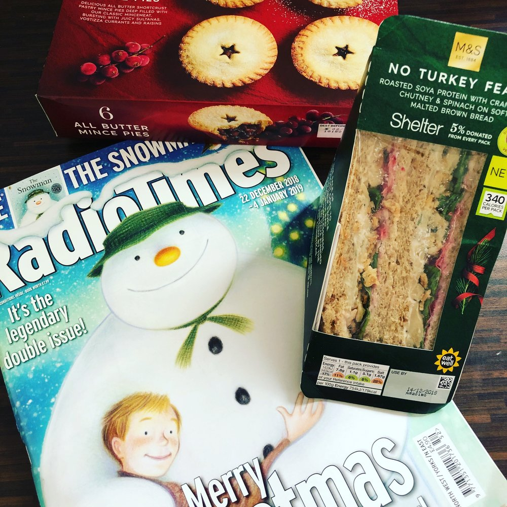 Radio times and mince pies