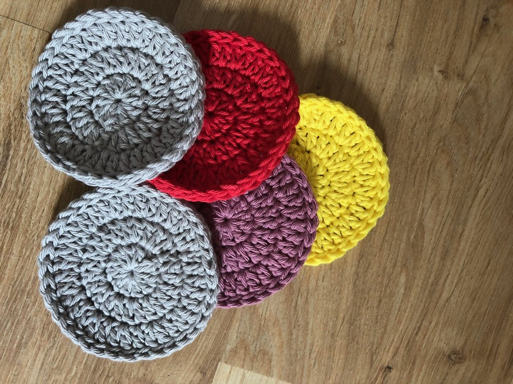 Face scrubbies - Free crochet pattern or ready made