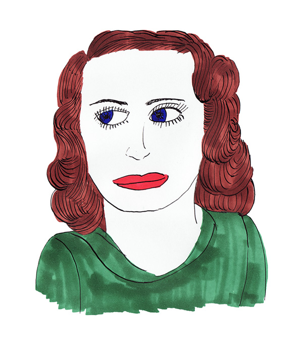 Illustration, Bette Davis