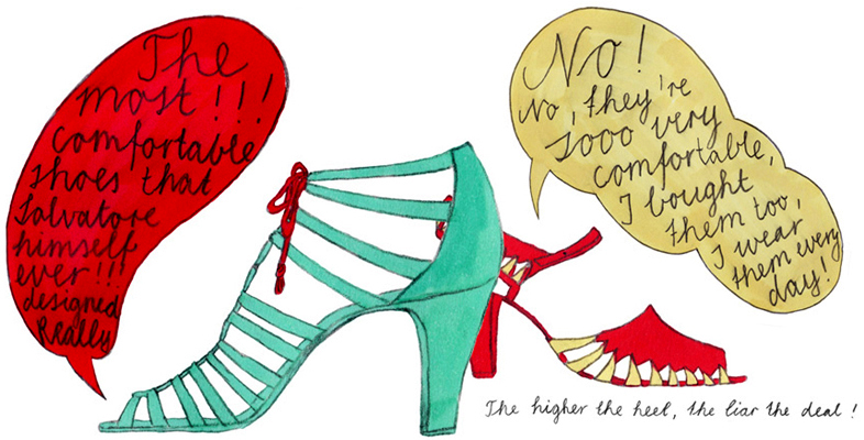 Illustration, The higher the heel