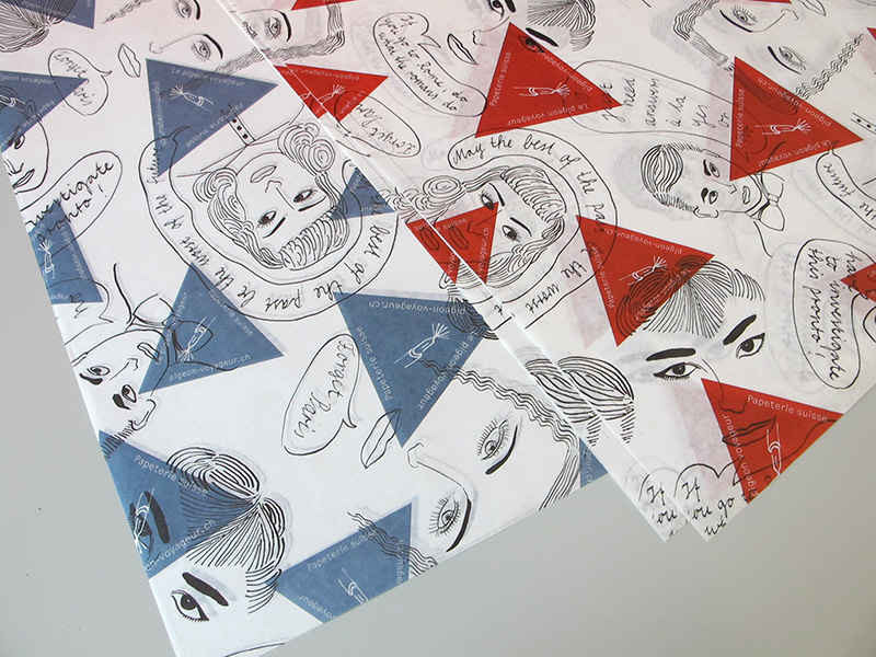 Wrapping paper, Le pigeon voyageur