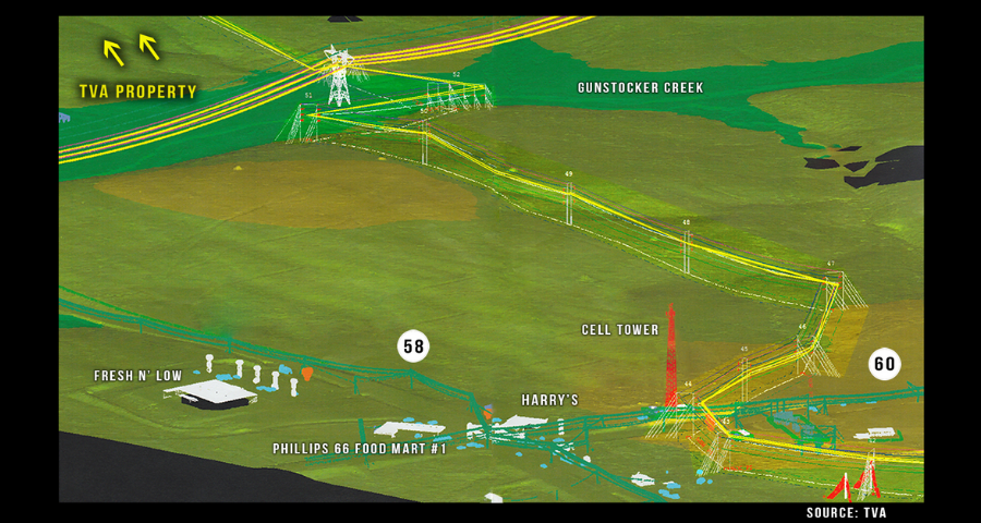 NEW, UPDATED MAPS Showing TVA's Path Across the Land in Georgetown