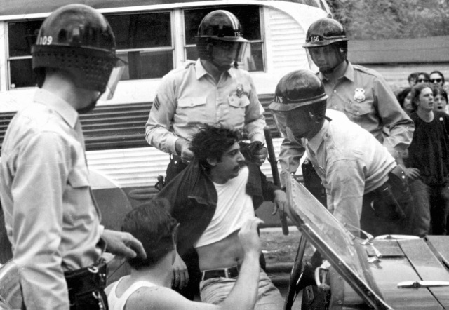 Paul Soglin was arrested twice and beaten by police as a leader of the civil rights and anti war movements.