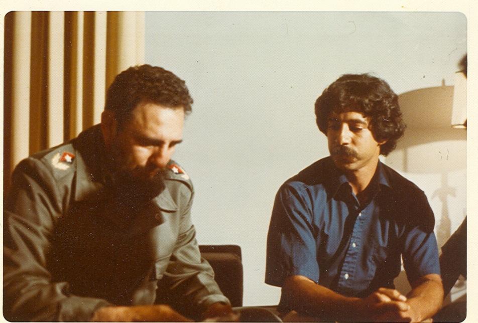 Paul Soglin and Fidel Castro 1975