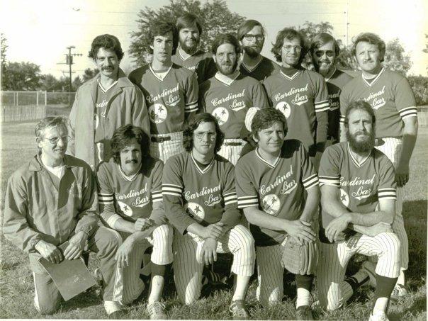 Paul Soglin on the Cardinal Bar Softball Team