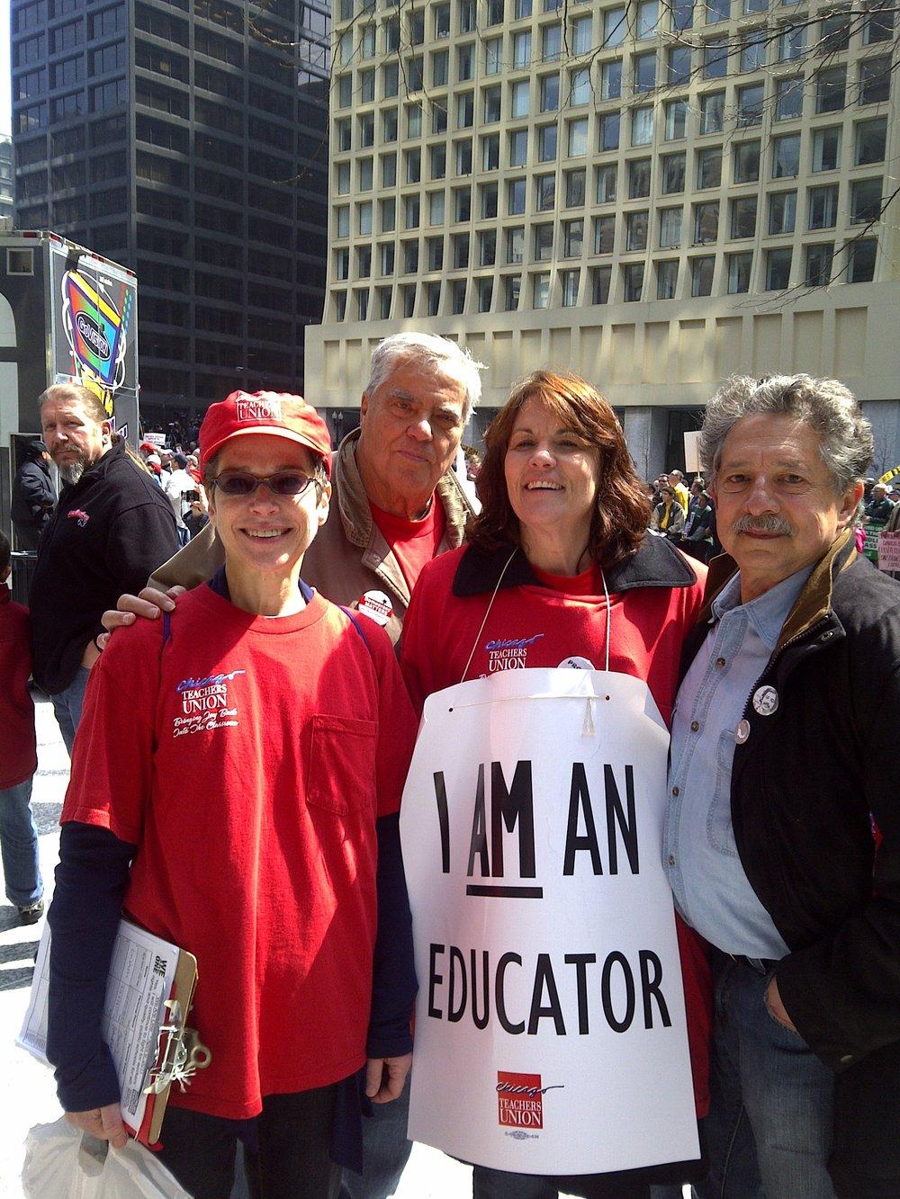 Union Rally Chicago with Susan Garza and Ed Sadlowski Sr April 2011