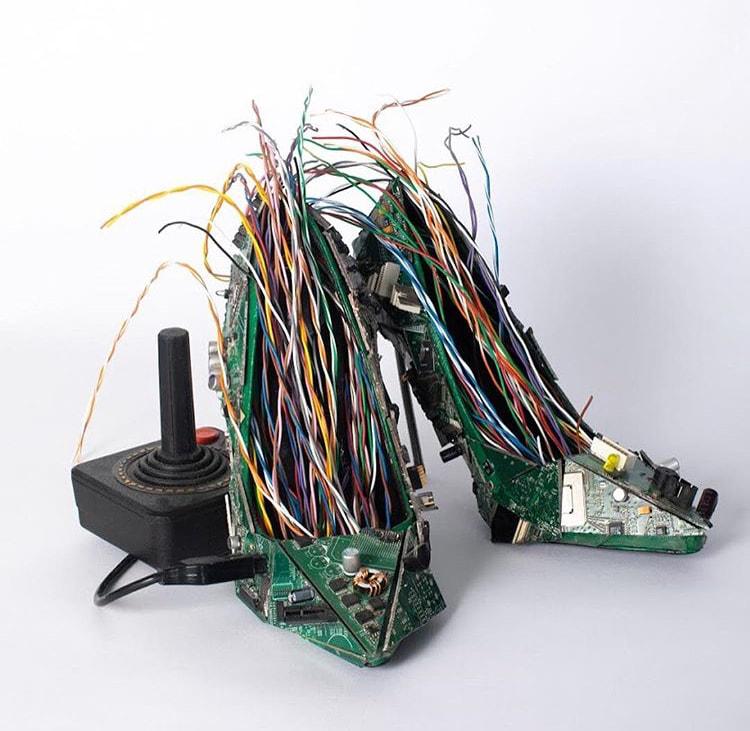 Computer Board Shoes by Karam Podar