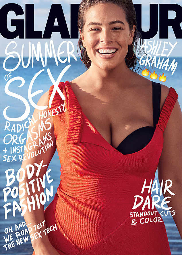 Ashley Graham on the cover of Glamour Magazine.