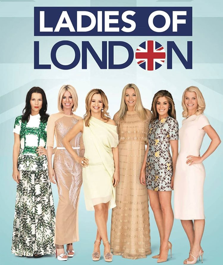 Juliet (far left) with her costars of Ladies of London
