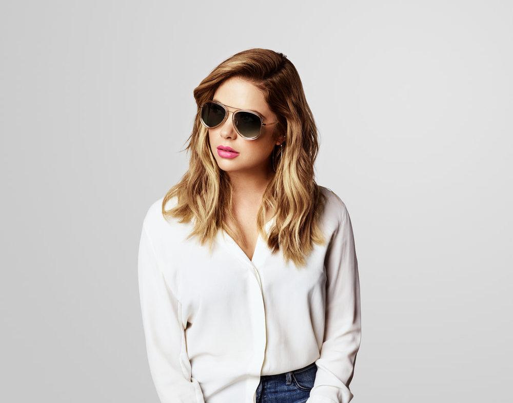 Ashley Benson wearing Prive Revaux sunglasses