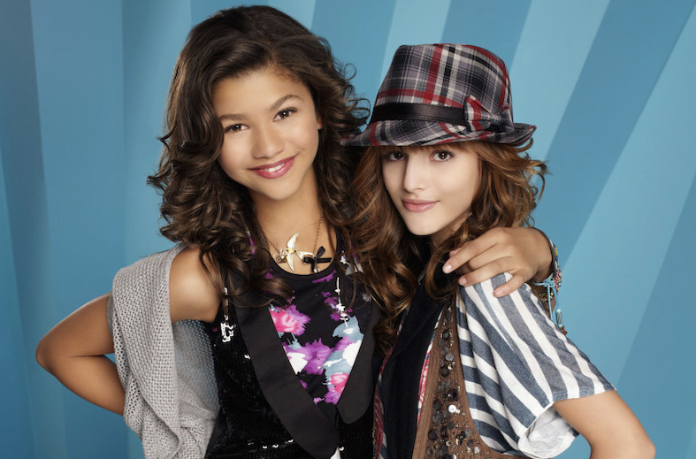 With Bella Thorne (right) on Shake it Up