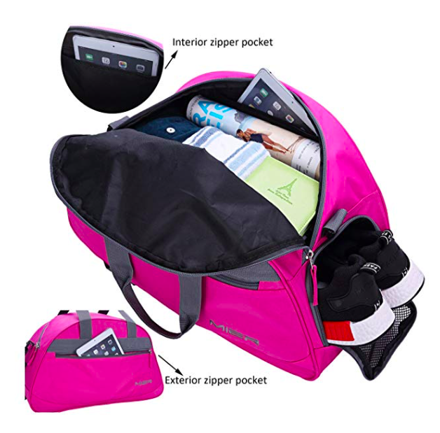 "8. MIER 20"" Sports Gym Bag Travel Duffel Bag with Shoes Compartment"