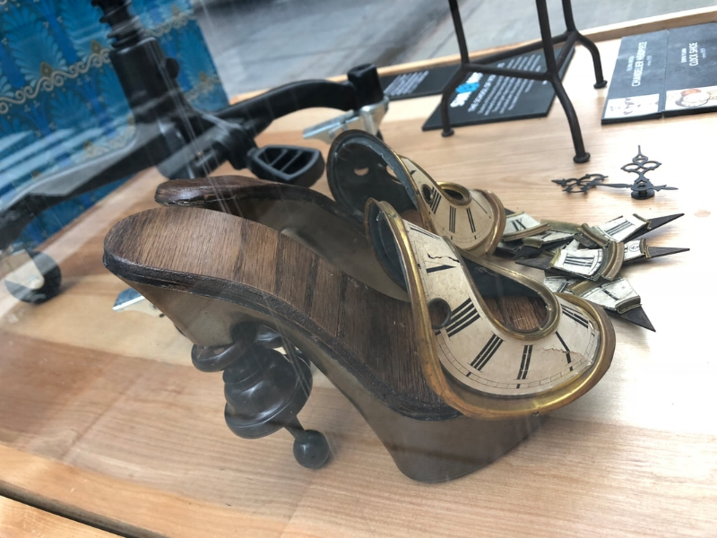 These shoes may not truly tick, but their clever, antique-style design has the potential to withstand the test of time.