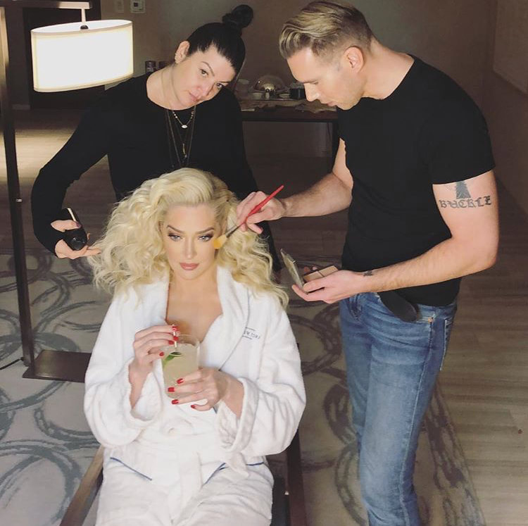 Danielle doing Real Housewives of Beverly Hills Star Erika Jayne's hair