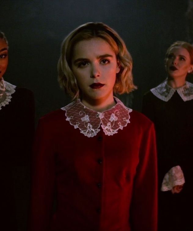 Lace collars take viewers back to old-school Salem; they look oh-so-chic....until the  Dark Lord  comes to play.