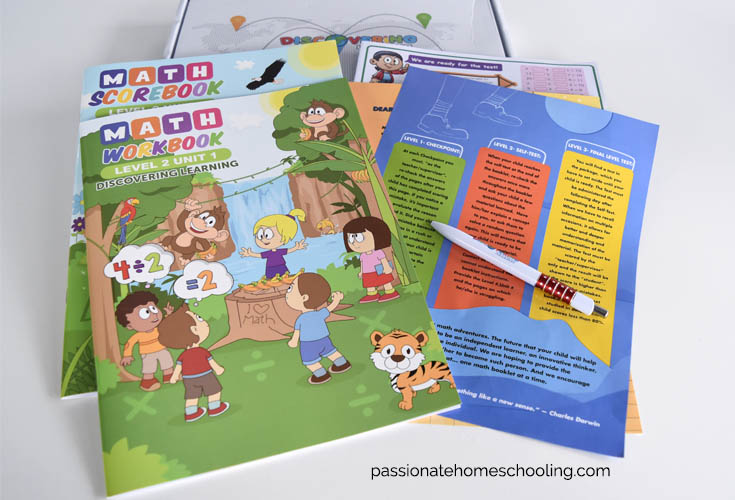 Level 2 math workbooks from Discovering Learning