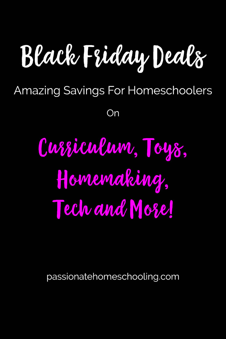 Black Friday Sales For Homeschoolers
