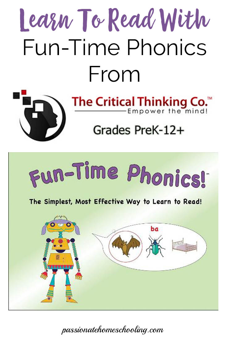 Learn to read with Fun-Time Phonics an easy to use interactive game for kids. | www.passionatehomeschooling.com
