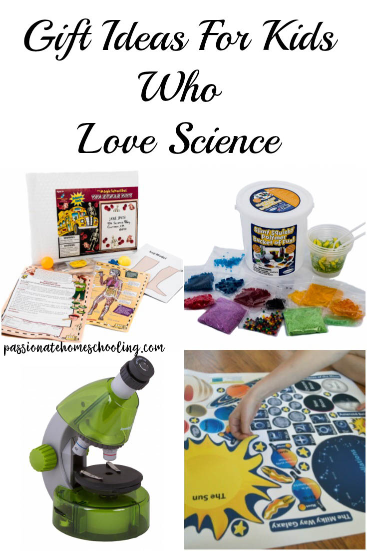 Fun gift ideas for kids who love science. STEM projects and activities for all ages that make great Christmas gifts, birthday gifts or homeschool projects. | www.passionatehomeschooling.com
