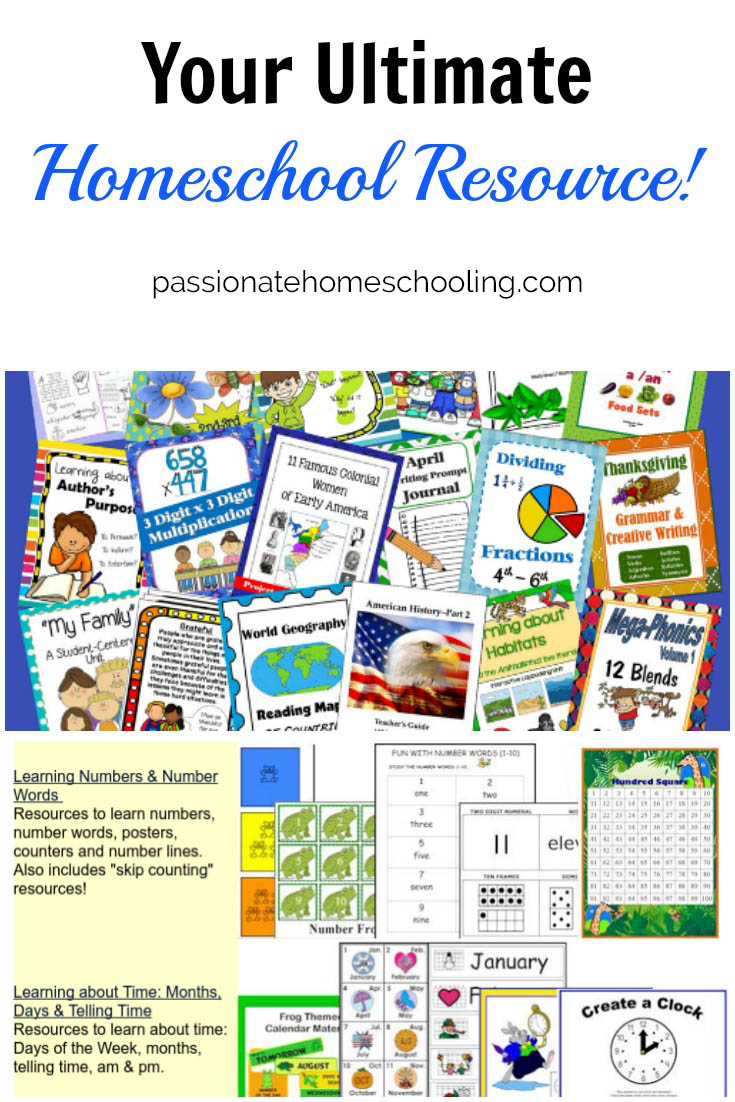 The Christian Homeschool Hub is my favourite resource for homeschooling printables!
