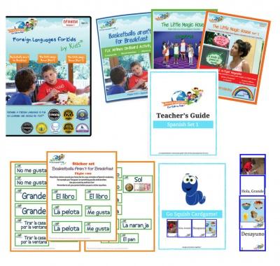 Homeschool Spanish lesson kit.