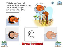 Drawing letters with your mouse
