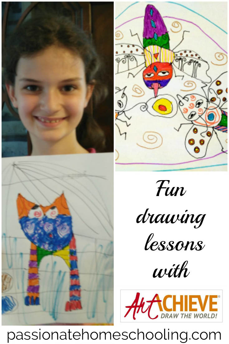 I love these fun and easy to use art lessons from ArtAchieve. Lessons are easy for my children to follow along with and come with Power Point and video versions. A wonderful addition to our homeschool day