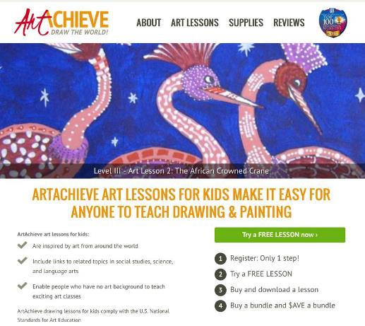 Online Art Lessons For Kids ArtAchieve