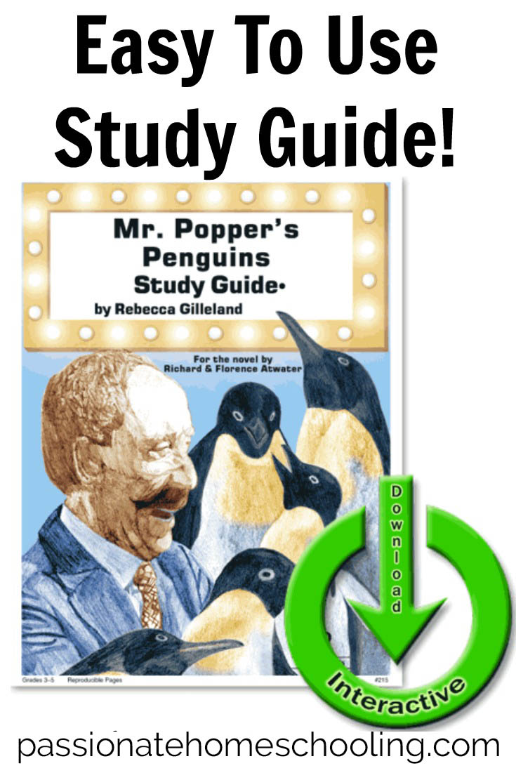 Mr. Popper's Penguins is a such a sweet story! We just loved using this easy to use study guide from Progeny Press.