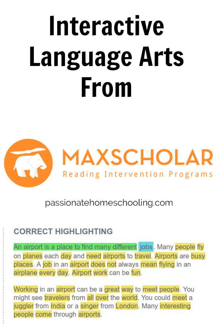 MaxScholar is an easy to use interactive language arts program. Developed for struggling readers but provides a great foundation for all learners.